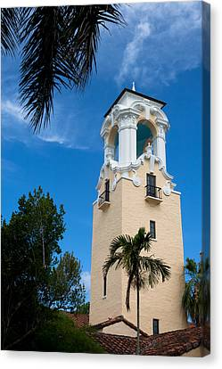 Canvas Print featuring the photograph Congregational Church Of Coral Gables by Ed Gleichman