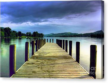 Coniston Jetty Canvas Print by Neil Wharton