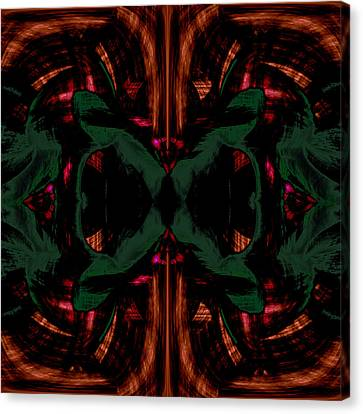 Conjoint - Copper And Green Canvas Print by Christopher Gaston