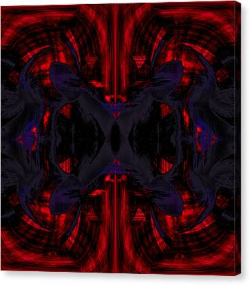 Conjoint - Crimson And Royal. Canvas Print by Christopher Gaston