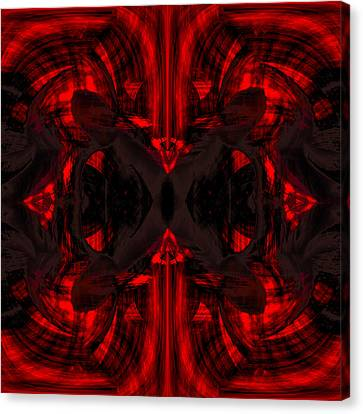 Conjoint - Crimson Canvas Print by Christopher Gaston