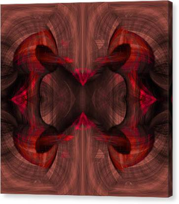 Conjoint - Ruby Canvas Print by Christopher Gaston