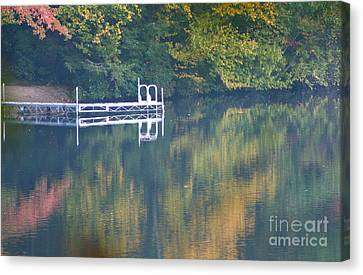 Connecticut Autumn Reflections Canvas Print by Cindy Lee Longhini
