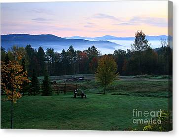 Connecticut River Valley Sunrise Canvas Print by Butch Lombardi