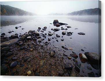 Connecticut Rocks Canvas Print by Karol Livote