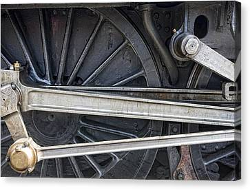 Connecting Rods Of Sir Nigel Gresley Canvas Print by John Short