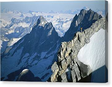 Jogging Canvas Print - Conrad Anker On Mount Combatant, Coast by Jimmy Chin