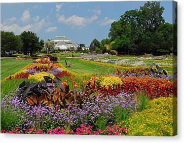 Conservatory Gardens Canvas Print by Lynn Bauer