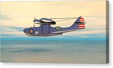 Consolidated Pby Catalina Canvas Print by Walter Colvin