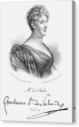 Decolletage Canvas Print - Constance De Salm by Granger