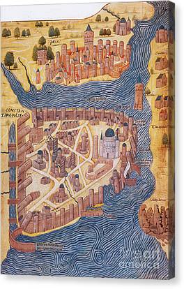 Constantinople, 1485 Canvas Print by Photo Researchers