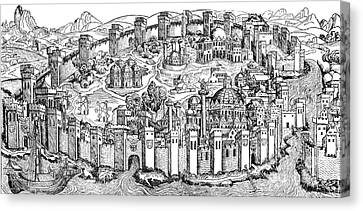 Constantinople, 1493 Canvas Print by Photo Researchers