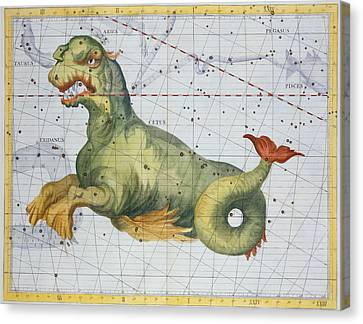 Constellation Of Cetus The Whale Canvas Print by James Thornhill
