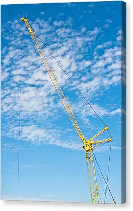 Construction Crane Canvas Print by Tom Gowanlock
