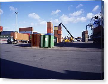 Container Port Canvas Print by Carlos Dominguez