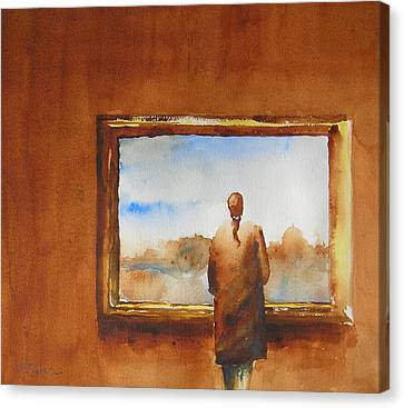 Contemplating The Turner Canvas Print