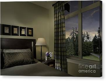 Contemporary Bedroom With Window Canvas Print by Robert Pisano