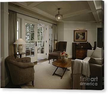 Contemporary Sitting Room Canvas Print by Robert Pisano