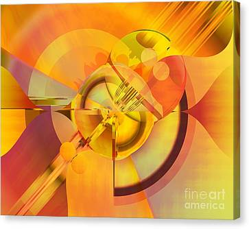 Continuous Color Canvas Print by Michelle H
