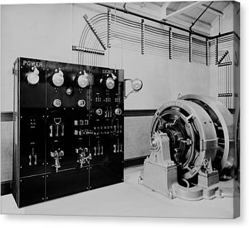 Control Panel And Dynamo Generator Canvas Print by Everett