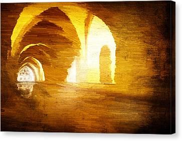 Canvas Print featuring the digital art Convento by Andrea Barbieri