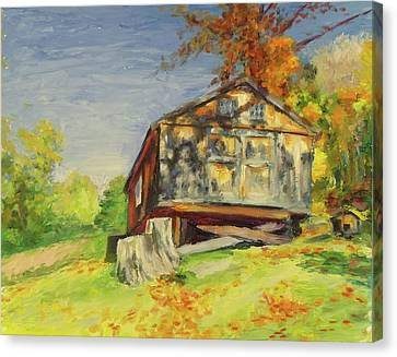 Converted Barn Orrs Mill Ny Canvas Print