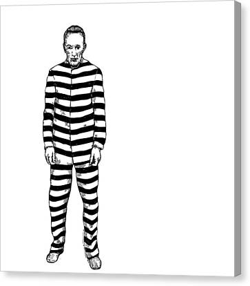 Convict Canvas Print by Karl Addison