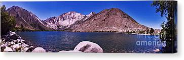 Canvas Print featuring the photograph Convict Lake by Gary Brandes