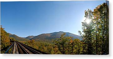 Conway Scenic Railroad - Short Canvas Print by Geoffrey Bolte