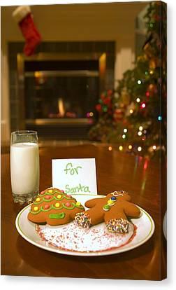 Christmas Eve Canvas Print - Cookies For Santa Claus by Carson Ganci