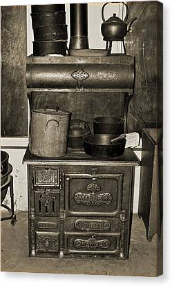 Cooking At The Old Jail Canvas Print by DigiArt Diaries by Vicky B Fuller