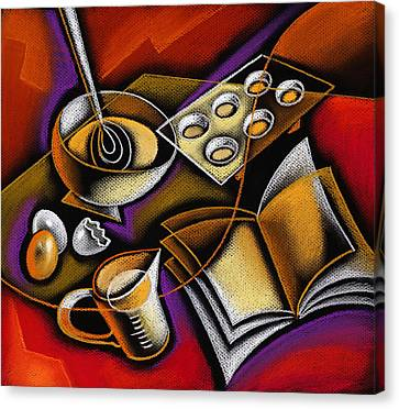 Cooking Canvas Print by Leon Zernitsky