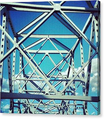 Cool #bridge #ohio Canvas Print by Melissa Wyatt