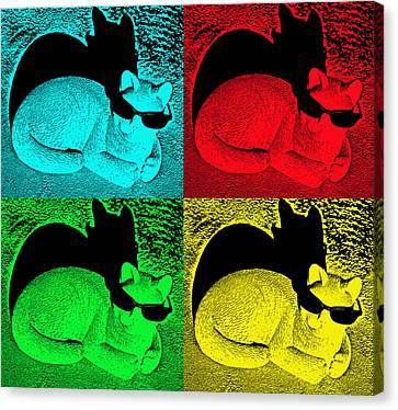 Sunshine Canvas Print - Cool Cat Pop Art by Aimee L Maher Photography and Art Visit ALMGallerydotcom