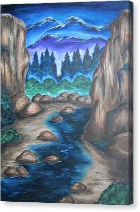 Cool Mountain Water Canvas Print by Cheryl Pettigrew