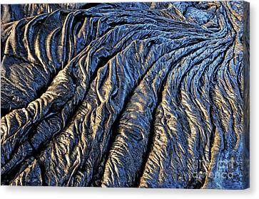 Cooled Pahoehoe Lava Flow Canvas Print by Sami Sarkis
