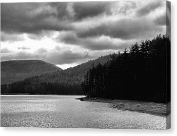Canvas Print featuring the photograph Cooper Lake Monochrome by Nancy De Flon