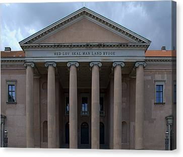 Canvas Print featuring the photograph Copenhagen Courthouse by Steven Richman