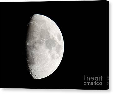 Copernicus In Oceanus Procellarum The Monarch Of The Moon Canvas Print by Andy Smy