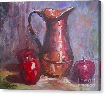 Copper Study Canvas Print by Patsy Walton
