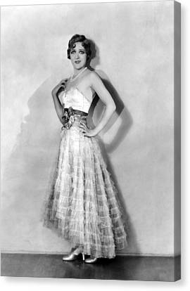 Coquette, Mary Pickford, In A Gown Canvas Print by Everett