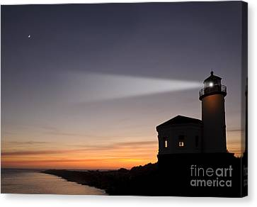 Coquille River Lighthouse Canvas Print by John Shaw and Photo Researchers