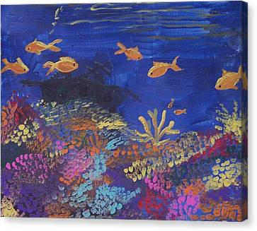 Coral Reef Garden Canvas Print by Renate Pampel