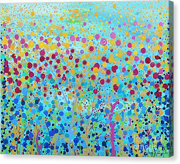 Canvas Print featuring the painting Coral Symphony by Stacey Zimmerman