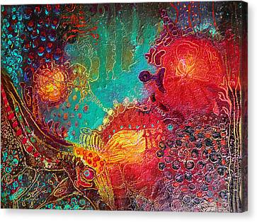 Canvas Print featuring the painting Coral World by Lolita Bronzini