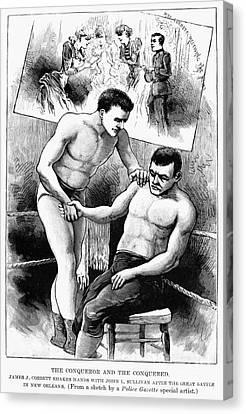 Corbett & Sullivan, 1892 Canvas Print