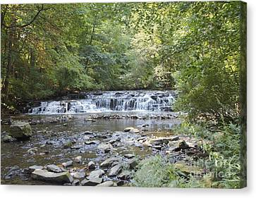 Canvas Print featuring the photograph Corbetts Glen Waterfall by William Norton