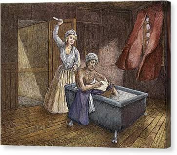 Corday And Marat Canvas Print