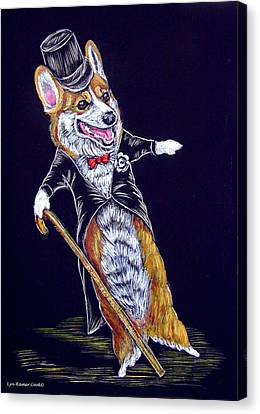 Corgi Fred Astaire Canvas Print by Lyn Cook