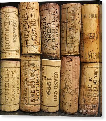 Corks Of Fench Vine Of Bordeaux Canvas Print by Bernard Jaubert